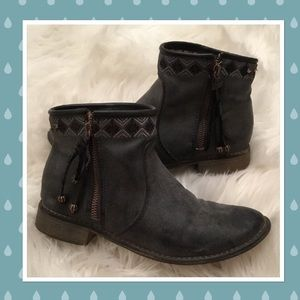 Roxy Distressed Gray Booties